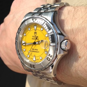 Tudor Hydronaut with yellow dial