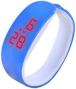 WUAI Unisex Silicone band LED Digital watch