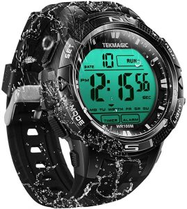 TEKMAGIC Waterproof Sports watch with digital time display