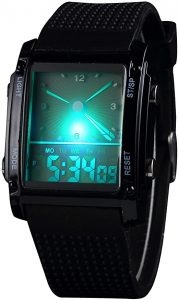 Unisex hot design double movement analog and digital sports watch