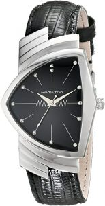 Hamilton Men's H24411732 Ventura Stainless Steel Watch with Black Leather Band