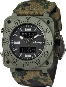 INFANTRY Men's Military Watch Camo Tactical wristwatch for Men