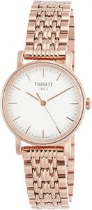 Tissot Silver Dial Rose Gold Tone Stainless Steel Ladies Watch