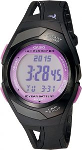 CASIO Sports Watch – Black & Pink for Women