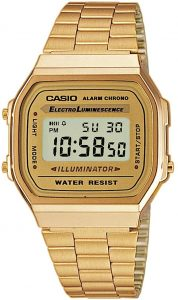 Casio Vintage Retro Gold Digital Dial