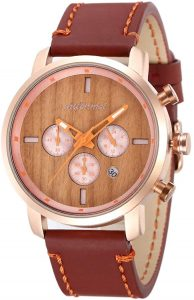 Shifenmei Wooden Chronograph Waterproof watch (S5592)