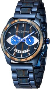 SHIFENMEI Men's Wooden Watch Stainless-steel combined