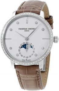 Frederique Constant Slimline Mother of Pearl Dial Moon Phase Watch