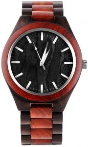 SHANGDONGPU Women Bamboo watch with leather band