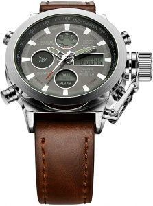 Tamlee Golden Hour Fashion Brown leather Men's Military Watch