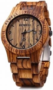 BEWELL W086B Men's Wooden watch