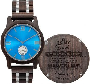 KWOOD custom engraved wooden watch for men