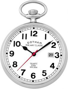 Gotham Men's Stainless-steel Pocket watch