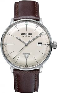 Junkers Bauhaus Stainless-steel and leather watch
