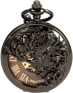 ManChDa Men's Skeleton Mechanical pocket watch