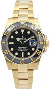 Rolex Submariner Yellow Gold Watch