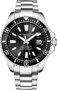 Stuhrling Original Black Men's Dive Watch