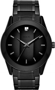 Relic by Fossil Men's Rylan Quartz Stainless-Steel Diamond Accent Dress Watch
