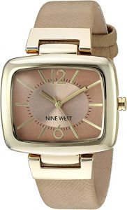 Nine West Women's Gold-Tone and Beige Strap