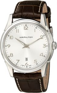 Hamilton Jazzmaster Thinline Stainless-Steel and Leather Watch
