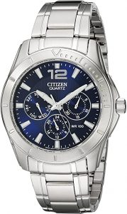 Citizen Men's Stainless-steel Watch with Blue Dial