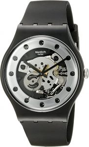 Swatch Unisex Silver Glam Analog Quartz Watch SUOZ147